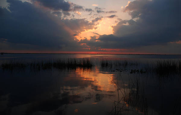 Sunset Art Print featuring the photograph Sun Behind The Clouds by Susanne Van Hulst