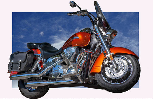 Motorcycles Art Print featuring the photograph Tak'n The High Road by Gary Adkins
