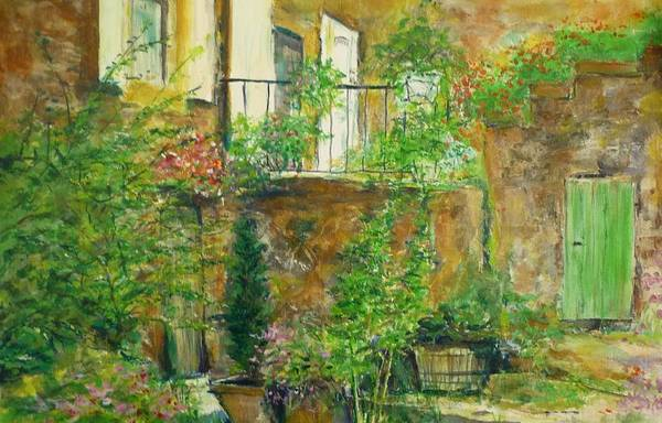 Stone Art Print featuring the painting The Green Door by Lizzy Forrester