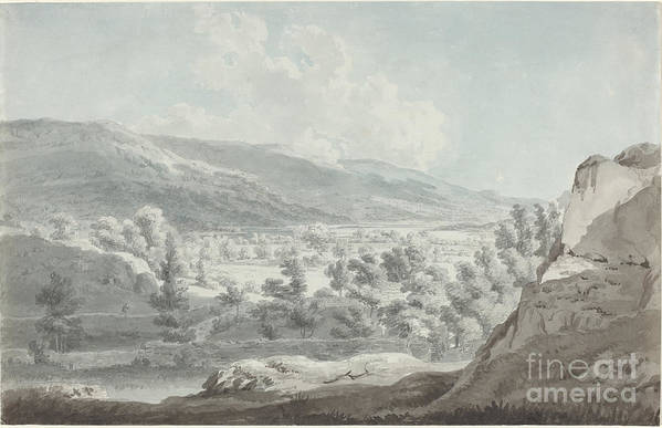 Art Print featuring the drawing The Head Of Ullswater by Edward Dayes