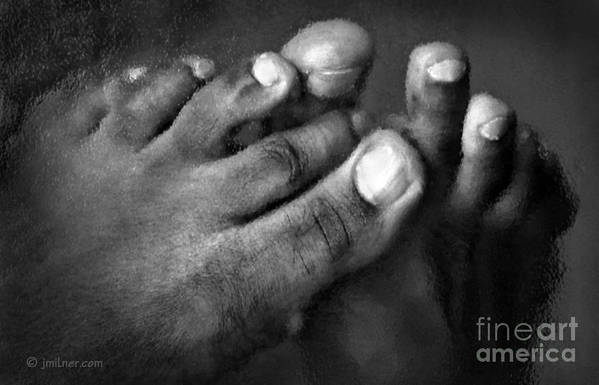 Feet Art Print featuring the photograph This Little Piggy by Jacqueline Milner