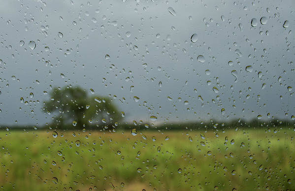 Landscape Art Print featuring the photograph Through The Raindrops by By Way of Karma