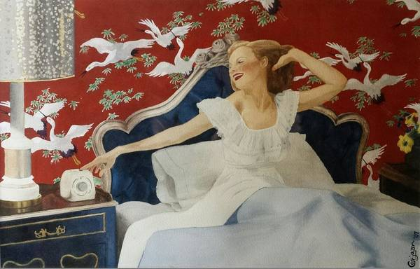 Portrait Art Print featuring the painting Rise And Shine by David Corrigan