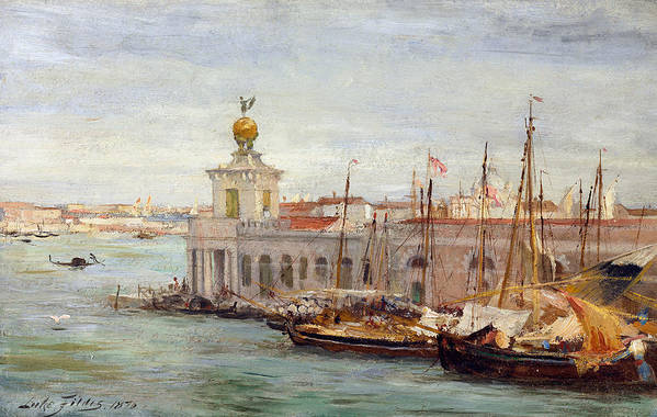 Boat Art Print featuring the painting Venice by Sir Samuel Luke Fields