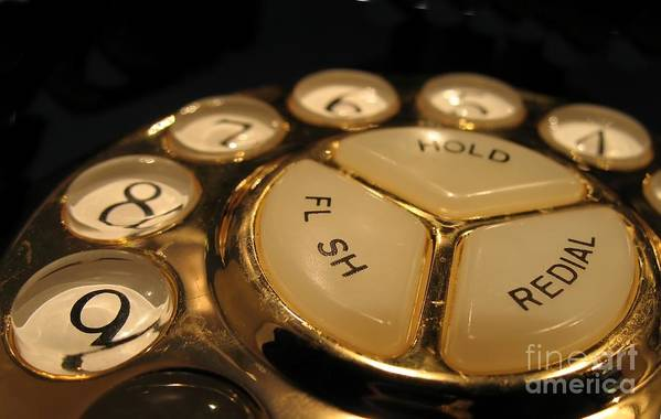 Old Art Print featuring the photograph Vintage Rotary Dial Phone by Yali Shi
