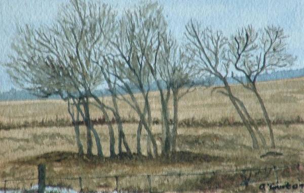 Landscape Art Print featuring the painting Visitors by Lynn ACourt