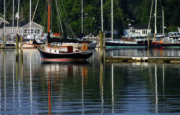 Seascape Art Print featuring the photograph Wickford Harbor by Jim Beckwith
