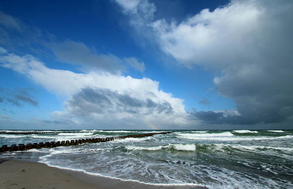 Baltic Sea Art Print featuring the photograph Wild Sky by Heike Hultsch