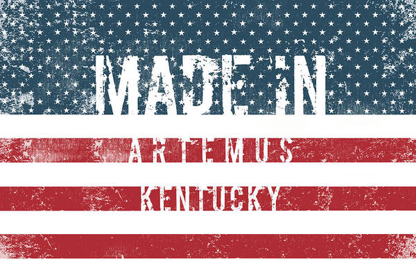 Artemus Art Print featuring the digital art Made In Artemus, Kentucky by Tinto Designs