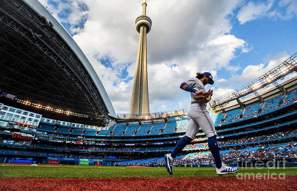 People Art Print featuring the photograph New York Yankees V Toronto Blue Jays by Mark Blinch