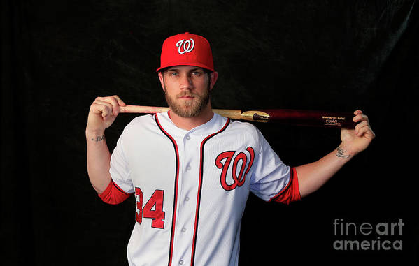 Media Day Art Print featuring the photograph Washington Nationals Photo Day 6 by Rob Carr