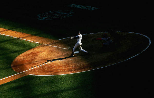 People Art Print featuring the photograph Boston Red Sox V New York Yankees by Ezra Shaw