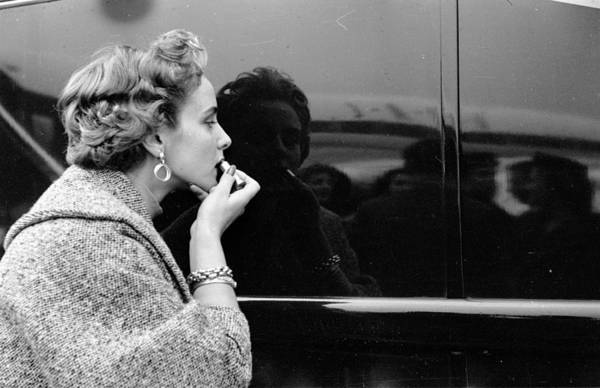People Art Print featuring the photograph Lipstick Check by Thurston Hopkins
