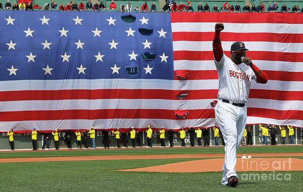 American League Baseball Art Print featuring the photograph David Ortiz by Jim Rogash