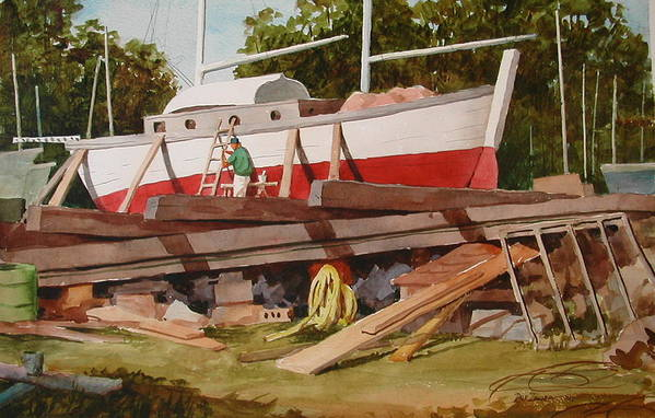 Boats Art Print featuring the painting Second Time Around by Faye Ziegler