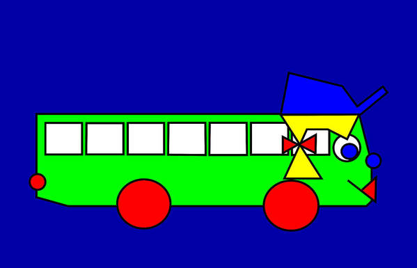Belinda Art Print featuring the digital art Belinda The Bus by Asbjorn Lonvig