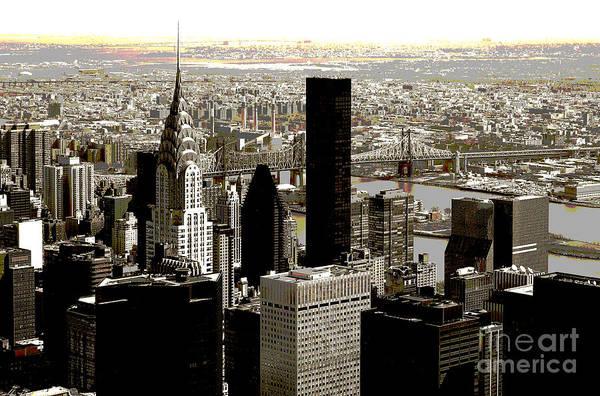 Bw Art Print featuring the photograph Manhattan by RicardMN Photography