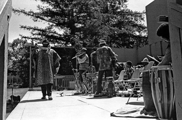 Sun Ra Arkestra Art Print featuring the photograph Sun Ra Arkestra Uc Davis Quad 2 by Lee Santa