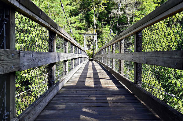 Bridge Art Print featuring the photograph Suspension Bridge by Susan Leggett