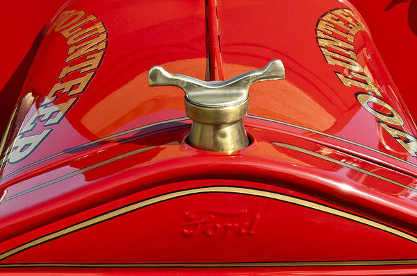 1919 Ford Volunteer Fire Truck Print featuring the photograph 1919 Ford Volunteer Fire Truck by Jill Reger