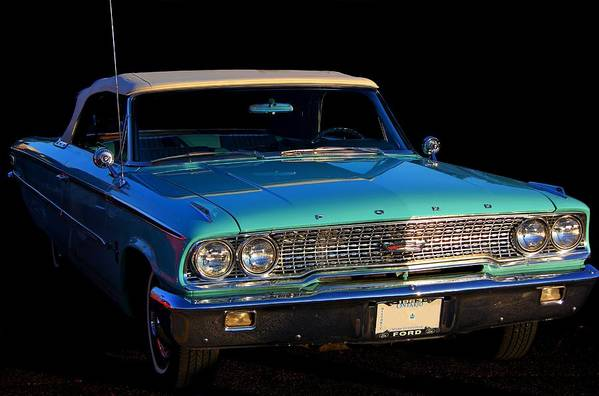 Ford Art Print featuring the photograph 1963 Ford Galaxy by Davandra Cribbie