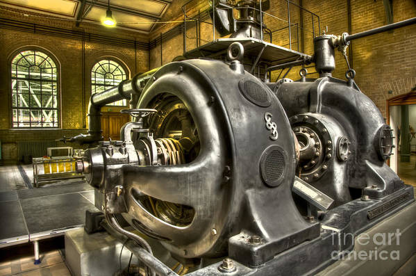 Heiko Art Print featuring the photograph In The Ship-lift Engine Room by Heiko Koehrer-Wagner