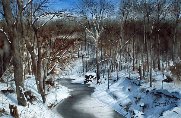 Landscape Art Print featuring the painting Same Creek Different Place by Denny Dowdy