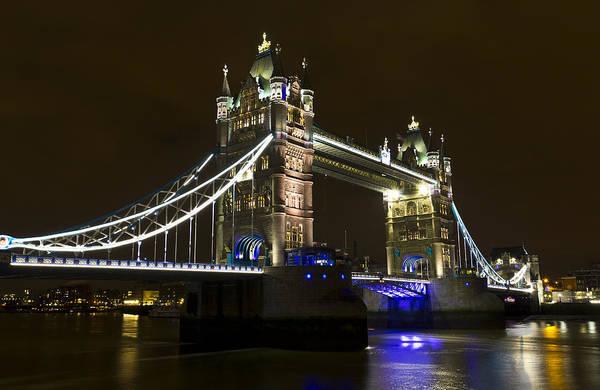 Tower Bridge Art Print featuring the photograph Tower Bridge London by David Pyatt
