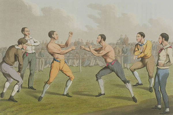 Spectator Art Print featuring the painting A Prize Fight Aquatinted By I Clark by Henry Thomas Alken