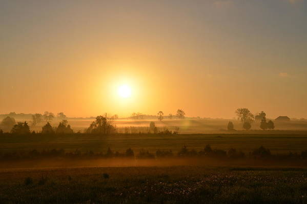 Spring Art Print featuring the photograph A Spring Morning At Gettysburg by Bill Cannon
