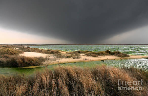 Outer Banks Art Print featuring the photograph A Storm A Coming - Outer Banks I by Dan Carmichael