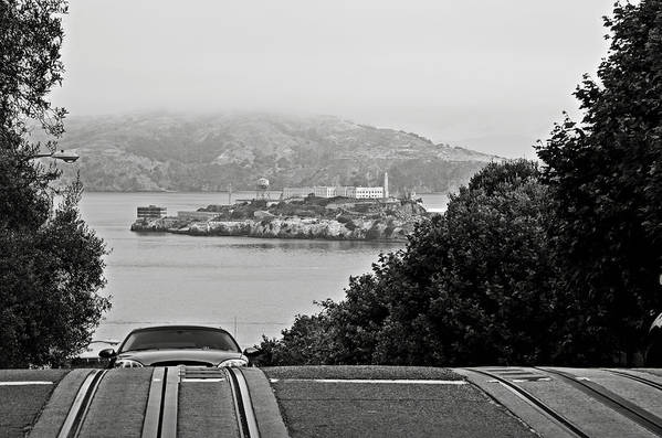 Alcatraz Art Print featuring the photograph Alcatraz Island From Hyde Street In San Francisco by RicardMN Photography