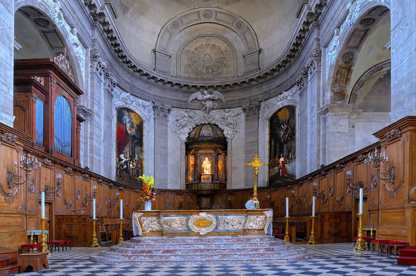 Alter Art Print featuring the photograph Alter At St Martins Cathedral by Dave Mills