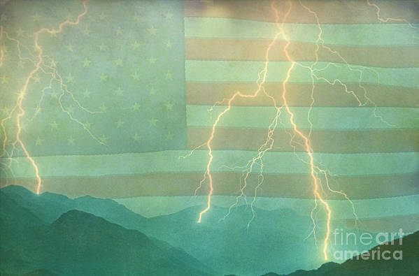 Lightning Art Print featuring the photograph America Walk The Line by James BO Insogna