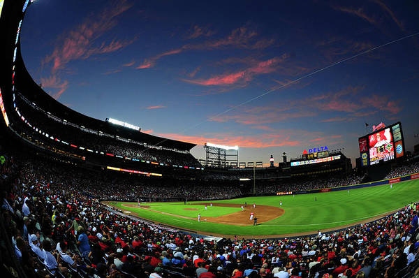 Atlanta Art Print featuring the photograph Arizona Diamondbacks V Atlanta Braves by Scott Cunningham