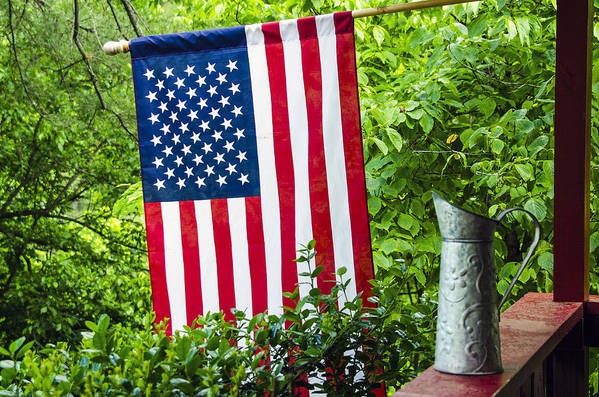 American Art Print featuring the photograph Back Porch Americana by Carolyn Marshall