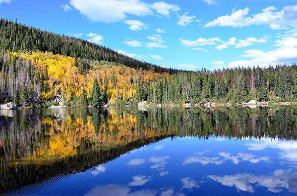 Rocky Art Print featuring the photograph Bear Lake Reflection by Tranquil Light Photography