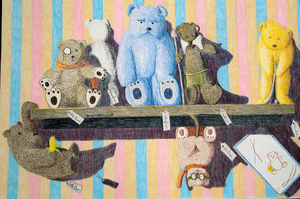 Still Life Art Print featuring the painting Bearly There by A Robert Malcom