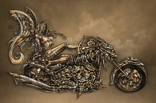 b227f2a0165 Angel Art Print featuring the digital art Beauty And The Beast by David  Bollt. Wall View 001