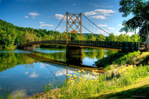 Arkansas Art Print featuring the photograph Beaver Town Bridge by Jerry Williamson
