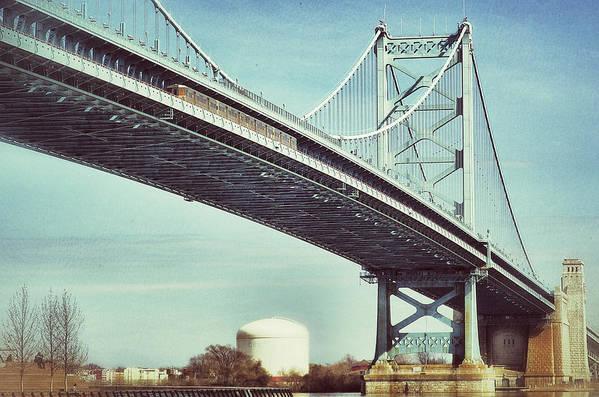 Bridge Art Print featuring the photograph Ben Franklin Bridge by Scott Wyatt