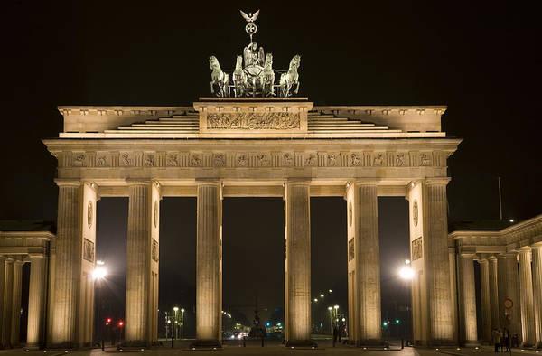 Berlin Art Print featuring the photograph Berlin Brandenburg Gate by Frank Tschakert