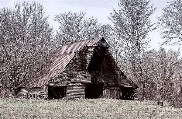 Barn Art Print featuring the digital art Better Days by Bonnie Willis