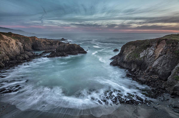 Beach Art Print featuring the photograph Black Point Cove by Greg Barsh