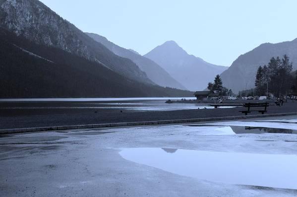 Austrian Alps Art Print featuring the photograph Blue Mountains Austria by Carol Lynn Pasewark