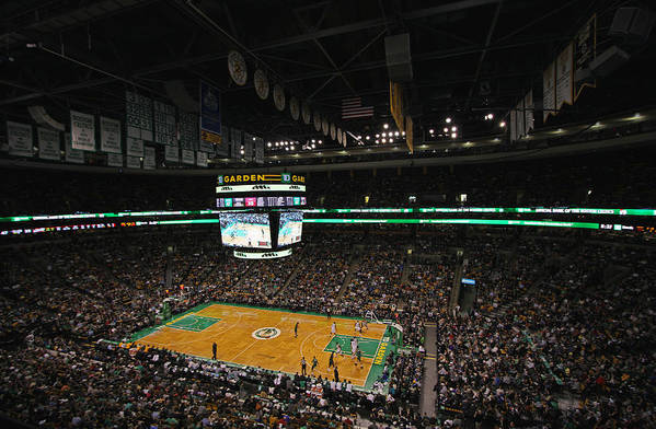 Boston Celtics Art Print featuring the photograph Boston Celtics Basketball by Juergen Roth