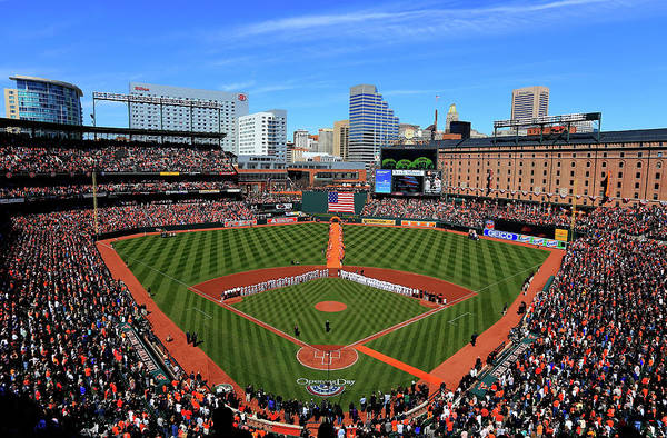 People Art Print featuring the photograph Boston Red Sox V Baltimore Orioles by Rob Carr