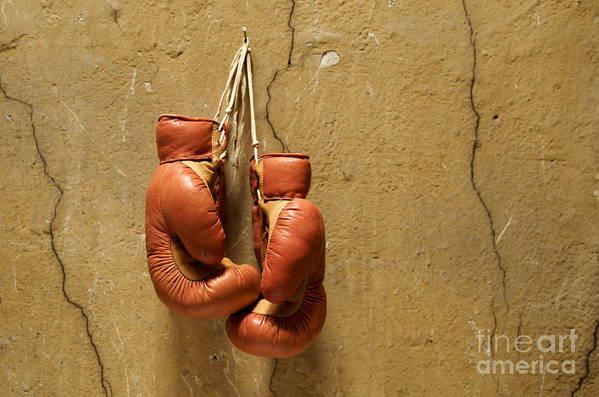 Strength Art Print featuring the photograph Boxing Gloves by Bernard Jaubert