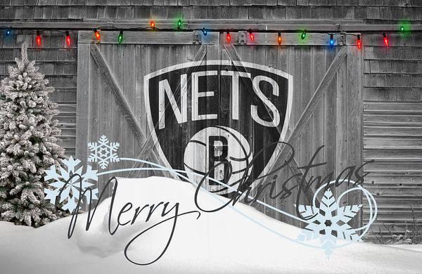 Nets Art Print featuring the photograph Brooklyn Nets by Joe Hamilton