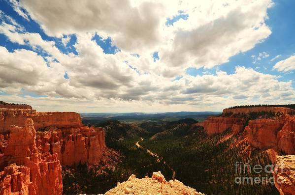 Landscape Art Print featuring the photograph Bryce Horizon by Sean Jungo